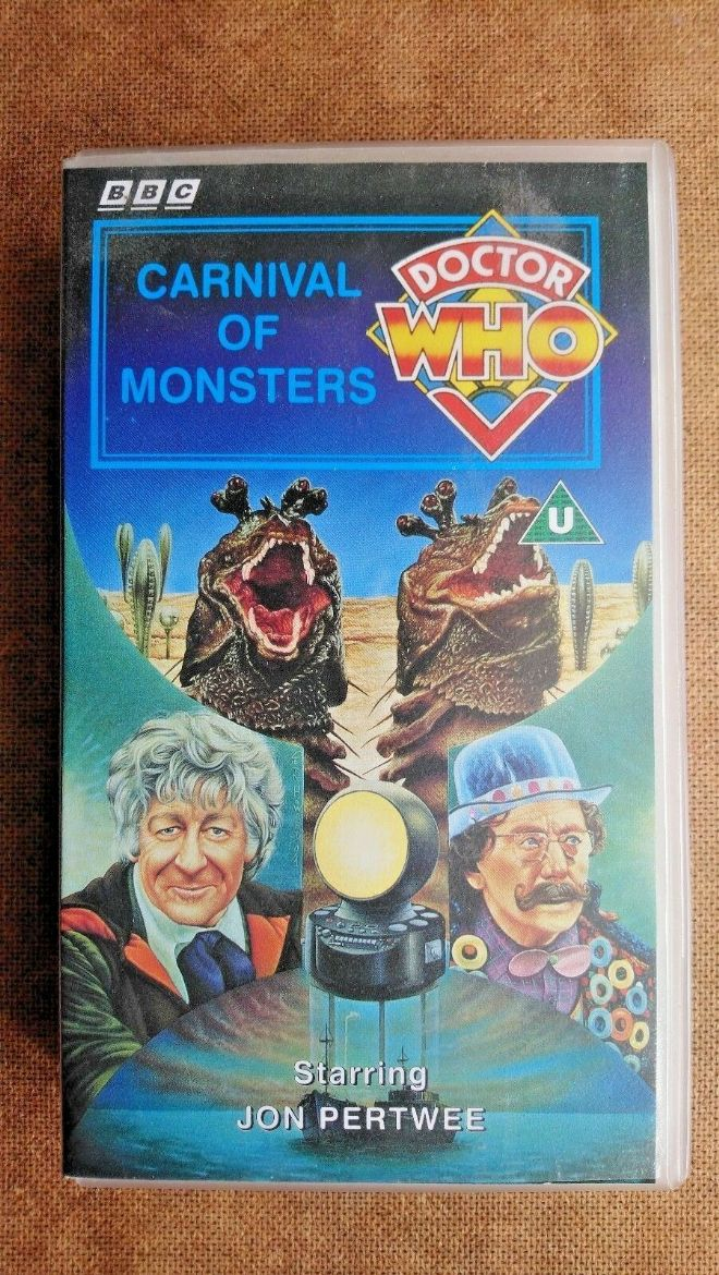 Doctor Who - Carnival Of Monsters (VHS, 1995 )- John Pertwee, Inc 3 RARE CARDS